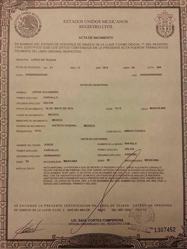 Lujo Certificado De Nacimiento Norwalk Ayuntamiento Cresta ...