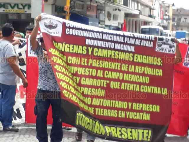 Campesinos repudian megaobras oficiales