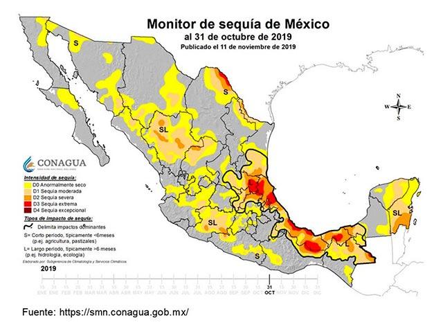 Veracruz, el estado con la sequía más prolongada del país: CONAGUA - alcalorpolitico