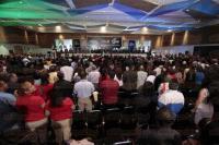 Boca del R�o, Ver., 26 de febrero de 2015.- El gobernador Javier Duarte de Ochoa, asisti� a la Reuni�n de L�deres Rotarios en M�xico.