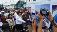 Coatzacoalcos, Ver., 28 de febrero de 2015.- El gobernador Javier Duarte de Ochoa inaugur� la rehabilitaci�n integral de la Unidad Deportiva La Alameda, as� como la alberca semiol�mpica, en la colonia Independencia de esta ciudad.