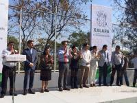 Xalapa, Ver., 4 de marzo de 2015.- El alcalde, Am�rico Z��iga inaugur� la ampliaci�n y rehabilitaci�n del m�dulo deportivo comunitario �EL OLMO�, ubicado en la colonia del mismo nombre.