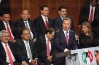 M�xico, DF., 4 de marzo de 2015.- El presidente del PRI, C�sar Camacho, encabez� la toma de protesta de los candidatos a diputados federales, alcaldes y gobernadores para el pr�ximo proceso electoral.