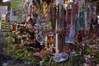 Xalapa, Ver., 6 de marzo de 2015.- Para este primer viernes de marzo los productos m�s buscados para los rituales son s�bila, amuletos, lociones y ramos con diversa variedad de hierbas, el costo va desde los 30 hasta 100 pesos. Comerciantes reportan bajas ventas a comparaci�n de a�os anteriores.