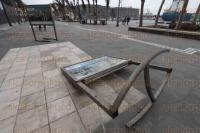 Veracruz, Ver., 6 de marzo de 2015.- Contin�an las rachas de viento y bajas temperaturas en este puerto por el paso del frente fr�o n�mero 41, dejando algunas afectaciones.