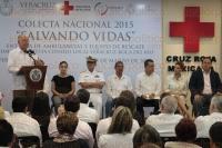 Veracruz, Ver, 26 de marzo de 2015.- El gobernador, Javier Duarte de Ochoa asisti� a la Colecta Nacional