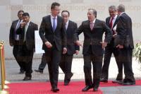 M�xico, DF., 26 de marzo de 2015.- El secretario de Relaciones Exteriores de M�xico, Jos� Antonio Meade, dio la bienvenida en la Canciller�a al ministro de Relaciones Exteriores y Comercio de Hungr�a, P�ter Szijj�rt�.