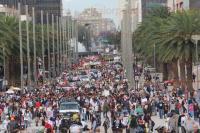 M�xico, DF., 26 de marzo de 2015.- M�s de dos mil personas participaron en la Acci�n Global por Ayotzinapa encabezada por una docena de padres de los 43 normalistas v�ctimas de desaparici�n forzada desde el 26 de septiembre de 2014. Exigen la presentaci�n con vida de los estudiantes y castigo a responsables.