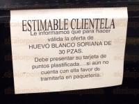 Veracruz, Ver., 27 de marzo de 2015.- La delegaci�n de PROFECO puso sellos de suspensi�n de venta de huevo a la empresa Comercial Soriana ubicada en el Fraccionamiento Floresta.