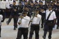 Boca del R�o, Ver., 20 de abril de 2015.- El comisionado Nacional de Seguridad P�blica, Monte Alejandro Rubido Garc�a y el gobernador Javier Duarte de Ochoa, dieron por inaugurado el Primer Encuentro Nacional Deportivo Policial