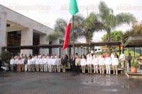 Xalapa, Ver., 21 de abril de 2015.- Se efectu� un acto c�vico en la explanada del Palacio Legislativo con motivo del 101 Aniversario de la Gesta Heroica de la Defensa del Puerto de Veracruz.