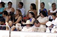 Alvarado, Ver., 21 de abril de 2015.- El presidente de la Rep�blica, Enrique Pe�a Nieto, acompa�ado por el gobernador, Javier Duarte de Ochoa, presentes en la Ceremonia de Jura de Bandera de la Generaci�n 2014-2019 de la Heroica Escuela Naval Militar.