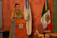 Xalapa Ver., 24 de abril de 2014.- La rectora de la UV, Sara Ladr�n de Guevara; el secretario de Educaci�n, Flavino R�os, entre otras personalidades, inauguraron la FILU en su XXII edici�n.