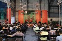 Xalapa, Ver., 24 de abril de 2015.- En marco al programa de la FILU 2015 se present� el grupo Tlen Huicani en las instalaciones del complejo OMEGA.
