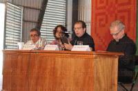 Xalapa, Ver. 26 de abril de 2015. Dentro de las actividades de la FILU 2015, se llev� a cabo la Mesa: Libertad de expresi�n o libertad de callar en la que participaron: Juan Pablo Proal, Roberto Zamarripa y �lfego Riveros.