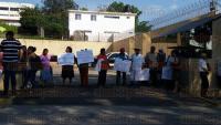Xalapa, Ver., 27 de abril de 2015.- Como medida de presi�n integrantes del Consejo Nacional de Organizaciones, Campesinas, Ind�genas y Obreras bloquean la carretera Veracruz-Xalapa, a la altura del hotel Fiesta Inn.