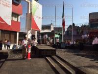 Xalapa, Ver., 27 de abril de 2015.- Se desarroll� un acto c�vico en la explanada del PRI a cargo de la Red de J�venes por M�xico en donde estuvo presente Alfredo Ferrari
