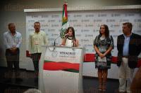 Xalapa Ver., 27 de abril de 2015.- Conferencia de prensa de la directora de turismo municipal de Coatepec, Dary L�pez Andrade para dar a conocer la feria del Caf� en su municipio.