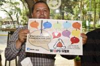 Xalapa, Ver., 28 de abril de 2015.- En conferencia de prensa, Esteban G�mez, coordinador del MOPI-VER en esta ciudad, anunci� que la asociaci�n organiza un debate con candidatos a diputados federal por el distrito Xalapa Urbano, con finalidad de conocer las propuestas de cada uno.