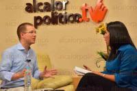 Xalapa, Ver., 3 de mayo de 2015.- El coordinador parlamentario del PAN en el Congreso de la Uni�n, Ricardo Anaya, durante entrevista en vivo en Alcalorpolitico.tv.