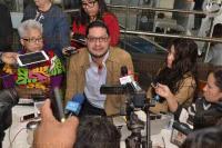 Xalapa, Ver., 4 de mayo de 2015.- En conferencia de prensa, Rodolfo Dom�nguez M�rquez, director de la organizaci�n