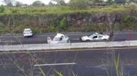 Xalapa, Ver., 5 de mayo de 2015.- Este martes aproximadamente a las 7:20 horas, dos veh�culos sufrieron un percance en el km 21 de la carretera Veracruz-Xalapa. Al parecer sin lesionados ya que nunca lleg� una ambulancia.