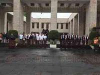 Xalapa, Ver., 5 de mayo de 2015.- Se desarroll� un acto c�vico en la explanada del Congreso del Estado Para conmemorar el 153 Aniversario de la Batalla de Puebla.