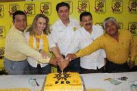 Orizaba, Ver., 5 de mayo de 2015.- En rueda de prensa el representante del PRD ante el �rgano electoral, Sergio Rodr�guez Cort�s.