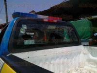 Mecayapan, Ver., 21 de mayo de 2015.- Taxistas de la zona acudieron al auxilio de los agentes que fueran atacados con armas de fuego en la localidad de Huazuntlan, para luego ser escoltados hasta Acayucan.