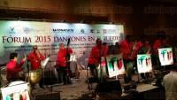 Boca del R�o, Ver., 23 de mayo de 2015.- La Danzonera M�xico recibi� la noche de este s�bado el Premio nacional a la preservaci�n y difusi�n del danz�n