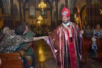 Xalapa, Ver., 24 de mayo de 2015.- El arzobispo Hip�lito Reyes Larios celebr� el d�a del Pentecost�s, durante la tradicional homil�a dominical en Catedral.