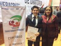 Poza Rica, Ver.- 24 de mayo de 2015- El Concurso Estatal de Oratoria, denominado �Voces que transforman a Veracruz�, recibi� a 21 j�venes del Estado de Veracruz en la Capital del Estado para celebrar la semifinal y final, a cargo de la presidenta del ICADEP Lilia Christfield Lugo.
