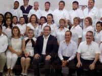 Poza Rica, Ver., 27 de mayo de 2015.- El gobernador Javier Duarte de Ochoa, durante la inauguraci�n de las instalaciones de la Unidad Integral de la Fiscal�a de Justicia en el Distrito VII, acompa�ado del fiscal, Luis �ngel Bravo.