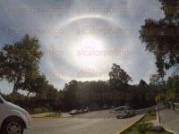 Xalapa, Ver., 27 de mayo de 2015.- Lectores comparten sus fotograf�as captadas en diferentes puntos de la ciudad del Halo Solar.