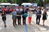 Xalapa, Ver., 28 de mayo de 2015.- El alcalde Am�rico Z��iga y Patricia Melgarejo, directora de la Facultad de Contadur�a y Administraci�n (UV), inauguraron la