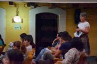 Xalapa, Ver., 28 de mayo de 2015.- En el auditorio del Colegio de Veracruz se present� el libro: �Bases para la construcci�n de un modelo de gobernanza; la cuenca del r�o Nautla�, con la participaci�n de Clementina Barrera, Ricardo Sant�s y Gerardo Alatorre, adem�s de las editoras Laura Ruelas y Ana Cecilia Travieso.