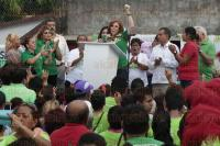 Boca del R�o, Ver., 29 de mayo de 2015.- El ex gobernador de Veracruz, Fidel Herrera Beltr�n, acompa�� la tarde de este viernes en la colonia Tamsa a la candidata por la diputaci�n federal por el distrito IV del Partido Verde, Carolina Gudi�o, como parte de su campa�a electoral.