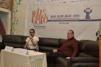 Xalapa, Ver., 1 de julio de 2015.- En rueda de prensa, Luisa Gonz�lez Pardo, acompa�ada de Carlos Garc�a, director del Instituto �Villa de Cort�s�, present� el III Festival Nacional de M�sica Infantil y Juvenil