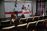 Xalapa Ver., 2 julio de 2015.- La alcaldesa de Guti�rrez Zamora, Leticia Delong Capellini, presenta la �Expo feria de nuestra se�ora del Carmen 2015�, a efectuarse en dicho municipio del 11 al 19 de julio.