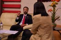Xalapa, Ver., 2 julio de 2015.- El secretario de Desarrollo Econ�mico y Portuario, Erik Porres Blesa, en entrevista para alcalorpolitico.tv, habl� de la econom�a en la que se encuentra el estado de Veracruz.