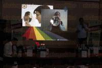 Veracruz, Ver., 3 de julio de 2015.- El subsecretario de Desarrollo Educativo de la SEV y el director General del COVEICYT, Nemesio Dom�nguez Dom�nguez y Jos� Manuel Velasco Toro, presidieron la Clausura y Ceremonia de Premiaci�n del Concurso de video