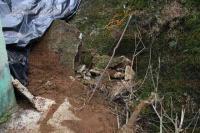 Xalapa, Ver., 4 de julio de 2015.- Autoridades no han realizado ning�n trabajo en el derrumbe del muro que afect� a habitantes del edificio Techacapan, ubicado en Xalapa 2000.