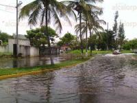 Veracruz, Ver., 4 de julio de 2015.- Encharcamientos y hundimientos en diversas calles de la zona conurbada fueron ocasionados por las fuertes lluvias de la madrugada de este s�bado.