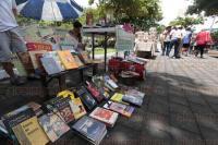 Veracruz, Ver., 5 de junio de 2015. El Ayuntamiento y la Direcci�n de Turismo colocaron el �Bazar Parque Zaragoza�, con teatro y cine al aire libre y venta de libros y artesan�as.