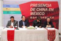 Xalapa, Ver., 6 de julio de 2015.- En conferencia de prensa, el secretario de Turismo, Harry Grappa, anunci� que se exhibir� durante tres meses una muestra de Museo Nacional de Arte de China a partir del 9 de julio, en sedes del IVEC.