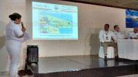 Veracruz, Ver., 7 de julio de 2015. En el Casino Naval, la Primera Regi�n Naval explic� su Plan Local de Contingencia, que tiene por objetivo implementar acciones de reacci�n r�pida ante eventos como derrames de hidrocarburos en altamar.