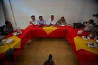 Xalapa, Ver., 28 de julio de 2015.- Conferencia del Partido del Trabajo donde Rafael Carvajal Rosado mencion� se reunir�n con Antonio a Manjarrez Valle, vocal del INE.
