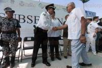 Veracruz, Ver., 28 de julio de 2015.- El secretario de Seguridad P�blica, Arturo Berm�dez Zurita, asisti� al banderazo de inicio de obras para la edificaci�n de las Subestaciones de Seguridad P�blica Municipales que comprende el Programa de SUBSEMUN.