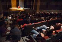 Xalapa, Ver., 28 de julio de 2015.- En el �gora de la Ciudad se present� la Venerable Damch�, quien imparti� la pl�tica titulada