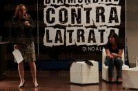Boca del R�o, Ver., 29 de julio de 2015.- En el marco del �D�a mundial contra la trata� la presidenta de la Comisi�n Especial contra la Trata de Personas, Rosi Orozco ofreci� una conferencia, con la participaci�n de Karla Jacinto, v�ctima de dicho delito.